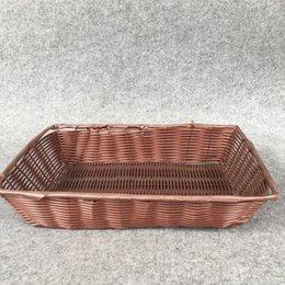 Wholesale Storage Baskets Japanese - handwork New design multifunction fruit decorative basket PP imitation rattan storage baskets