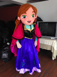 Wholesale Ice Mascot - New Special Anna Frozen Mascot Costume Elsa Olaf Figure Ice Character cartoon Fancy Dress