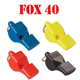 2019 matériaux de porte-clés en gros 201909 Fox 40 Whistles Safety Loud Pealess Extérieur, survie, sécurité des bateaux, sifflet de sauvetage, sauvetage, sifflet de soccer, football, sifflet de sport M64R F