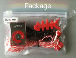 Wholesale Wholesale Fishing Books - Wholesale- Mambaman Hot Sale Mini Clip MP3 Music Players Support TF Card With Earphone & Mini USB & Fish winder & Dust plug With package