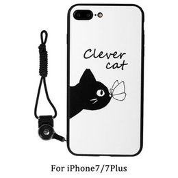 Wholesale Crafts Wholesale For Phone Cases - 2016 hotsele lovers phone shell Embossment Craft cartoon for iphone 7 6s plus Soft TPU Transparent Material frosted Shell