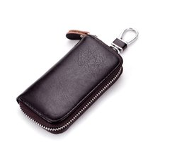 Wholesale Leather Key Chains For Cars - Amazing Quality Genuine Leather Key Holder For Difference Car Style Smart Key Holder Car Keychain For Man Women