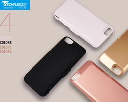 Wholesale External Charge Iphone Bank - Newest charger case for iPhone 6 6s 7 7plus with built-in magnet Ultra Thin Backshell wireless charge case External Battery power bank