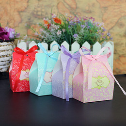 Wholesale Box Gift Paper Chocolates - Colorful Small Cardboard Wedding Favors Wholesale Party Gift Box Candy Boxes Novelty Treasure Chocolate Paper Gift Box For Parties