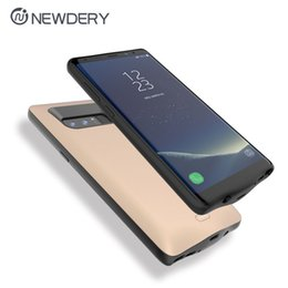 Wholesale Note High Capacity Battery - New product power bank power case electronics phone case battery 5500mAh high capacity for Samsung Note 8