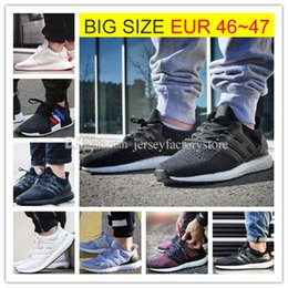 Wholesale Running Lace - Big Size Ultra Boost 2.0 3.0 4.0 UltraBoost mens running shoes sneakers women Sport Tri-Color NMD R2 CNY Snowflake Core Triple Black White