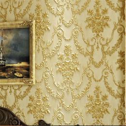 Gros-3D en trois dimensions sculpture papier peint rétro style européen chambre salon TV fond d'écran fond de fibre longue AB ? partir de fabricateur