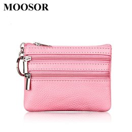 Wholesale oval clutches - Wholesale- New Women Wallet Genuine Leather Coin Purse Travel Organizer 11 Colors Women Storage Bag Key Holder Day Clutch Card Holders HB45