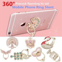 Wholesale Use Wholesale Cell - 2017 new 360° Fashion Universal Mobile Phone Ring Stent Cell Phone Ring Holder Finger Grip with Free Hook for Car Using Phone Stand DHL