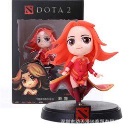 Envío gratis Genuino DOTA2 juego Q versión figura Lina Inversefigure Decoración Dota2 lina figura desde fabricantes