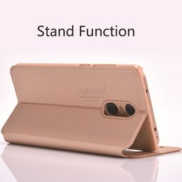 Wholesale Global Leather - Mobile Phone Accessories Parts Mobile Phone Bags Cases Luxury PU Leather Smart Flip Cover For Xiaomi Redmi Note 4 Global Version Case