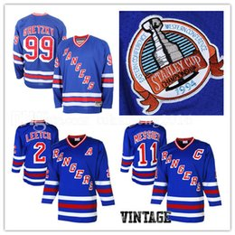 Wholesale Rangers Jerseys - New York Rangers 2# Brian Leetch 11# Mark Messier Hockey Jersey CCM Men's Embroidery And 100% Stitched 99# Wayne Gretzky NHL Jerseys