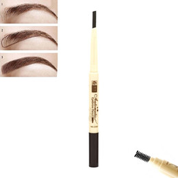 Wholesale Using Eye Shadow - Wholesale- 1PC Fashion Makeup 6 Colors Eyebrow Pencil Waterproof Eye Brow Shadow New Eyebrows Enhancer Make Up With Comb Brush Easy Use
