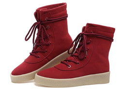 Wholesale Dancing Cow - Luxury brand Hip-hop dancing cool silver red black color Shoes Fashion Boots High Top Trainers justin kanye West Boots
