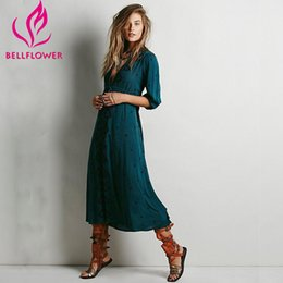 Canada Vente en gros- Boho Dress Femme 2017 Printemps Été Broderie Bohemian Longue Robe Loose V-Neck Sexy Rétro Personnes Robes Hippie Robe 14 Couleurs people sexy woman on sale Offre