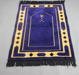 Wholesale Muslim Prayer Rugs - Free Shipping 110cm X 70cm Prayer Rug Muslims use Prayer Mat Sajjadah al Salat New Listing portable prayer carpet Muslims use