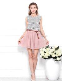 Wholesale Double Layer Chiffon Skirt - 2017 Fashion Floral Skirt Summer Female High Waist Pleated Double Layer Chiffon Skirt Half-length Mini Short Skirt dh-17