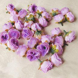 2019 mini flores de seda para artesanato 3 cm Mini Silk Tea Rose Head Flores Artificiais DIY Decoração de Casamento Flor Cabeça Broche Multicolor Artesanato Enfeites mini flores de seda para artesanato barato