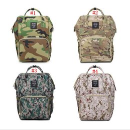 Wholesale Wet Bags Diapers - Camo Mommy Diaper Bags Camouflage Maternity Backpacks Outdoor Totes Desinger Nursing Travel Bags Nappies Backpack 4 Styles OOA2634