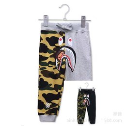 Wholesale Baby Trousers Pencil Pants - Free Shipping Spring Autumn Winter New Sports Camouflage Patchwork Baby Kids Long Pants Children casual Cotton Trousers