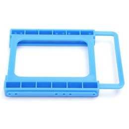 "Wholesale Hard Drive Screws - Wholesale- 2.5"" To 3.5"" SSD HDD Hard Drive Holder Screw-less Mounting Adapter Bracket Plastic Hard Drive Caddy Tray Harddisk Box For PC"