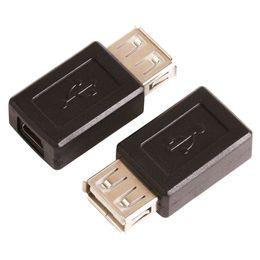 2019 weiblichen usb typ b männlich Großhandels-Art USB-2.0 A zum Mini-5Pin USB-B Art 5Pin weiblicher Verbindungsstück-Adapter Convertorc 100Pcs / Lot FREIES VERSCHIFFEN günstig weiblichen usb typ b männlich