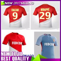 Wholesale Monaco Gold - Free postage Maillot de Foot Survetement As Monaco Jersey 17 18 Jersey 2017 Football Shirt MOUTINHO MBAPPE FALCAO GLIK MENDY Top Thai 2018