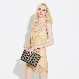 Wholesale High End Mini Dresses - Night Club Fashion Sequined Sleeveless Package Hip Skirt Trade High-end Fashion Temperament Cultivate One's Morality Short Evening Dress