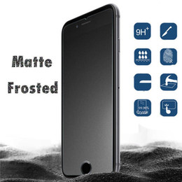 Wholesale Frosted Glass Screen - Frosted Matte Tempered Glass Screen Protector Guard Film For IPhone 7 5S SE 6 6S 7 plus note8 No Fingerprint