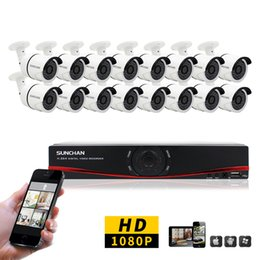Wholesale 16ch Dvr System - 16CH CCTV System 1080P HDMI AHD 16CH DVR 2.0 MP IR Outdoor Security Camera 3000TVL Camera Surveillance System
