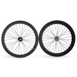 Wholesale Rear Wheel Tracking - Fixed Gear Rear wheel 700C Tubular Clincher Carbon wheel 25mm Width for track bike