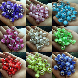 Wholesale Resin Heart Large - 100pcs Jewelry Making Beads Charms European Resin Biagi Large Big Hole Rroll Beads Fit For Charm Bracelets&Necklace