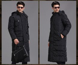 Wholesale Duck Cover - Wholesale- 2017 winter men long down jacket, lengthen thickening plus-size down jacket