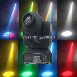 Wholesale Moving Head Led Gobo - Wholesale- (1 pieces lot) high brightness dj 30W moving head mini disco party lights dmx stage spot gobo led moving head light