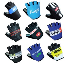 Wholesale Glove Scott - 2017 New scott cas sky lotto giant iam MOVISTER Cycling Gloves racing MTB TEAM gloves Bike bicycles gloves with Gel pads