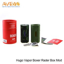 Wholesale Wholesale Core Power - Authentic Hugo Vapor Boxer Rader 211W TC Box Mod Powered by Dual Battery With DUO CORE GT211 Chipset VS Snowwolf Vfeng Charon TS