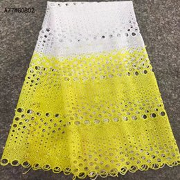 Wholesale French Beads - Best Selling Swiss voile laces African Lace Fabric White Nigerian French Fabric High Quality African beads Lace Fabric A77WG08