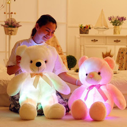 Wholesale Led Lighted Teddy Bear - tuffed Animals Plush Stuffed Plush Animals 50cm Creative Light Up LED Inductive Teddy Bear Stuffed Animals Plush Toy Colorful Glowing Ted...