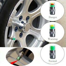 Wholesale hyundai caps - Mini 2.4Bar Car Tire Tyre Pressure caps TPMS Tools Warning Monitor Valve Indicator 3 Color Alert Diagnostic Tools Accessories