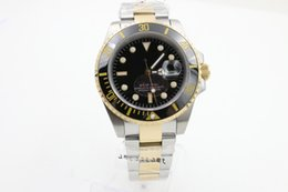 Wholesale Master Dual - High quality AAA luxury men's master series, 116613-LN-97203 black disk watch, high quality dual color 18K steel watch band, rotary ceramic