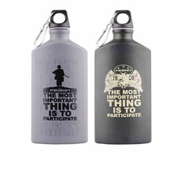 Wholesale Military Outdoor Water Bottle - Outdoor military bottle Sports Cycling Camping Independence Day water bottle Oval Kettle Water Bottle single layer cup LJJK706