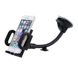 Wholesale s4 car holder - Wholesale- Long Arm Car Mount Windshield Dashboard Car Mount Holder for iPhone 6s 6 plus 5s 5 se, Samsung Galaxy S7 S6 edge S5 S4