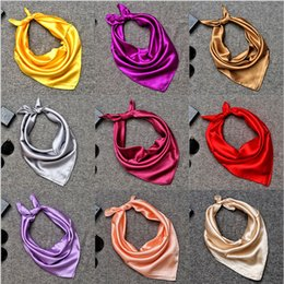 Wholesale Women S Silk Scarves Square - In 2017, the new professional attire pure color small squares Silk scarves female in the spring and autumn days joker etiquette nude scarf S