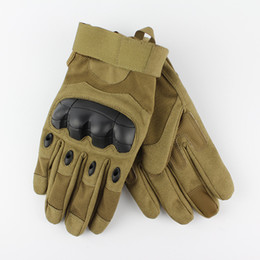 Wholesale Top Quality Gloves - Top Quality Outdoor Men Army Gloves Man Full Finger Gym gloves Riding Fighting Safety Gloves Anti-Slippery Tactical Gloves Army Green Black