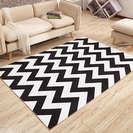 Wholesale Modern Black Table - 40x60cm,50x80cm modern Geometry minimalist bedroom living room coffee table rug carpet office carpet cloth shop for bedside