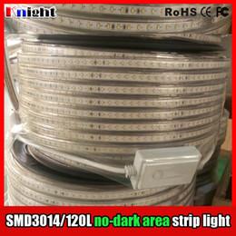 Sin área oscura smd3014 / 120 llevó la luz de tira, alto brillo smd 3014 backgroud techo decrotion llevó la luz de tira ip67 a prueba de agua, 220 v 100 M / lote desde fabricantes