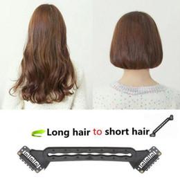 Novos penteados para cabelos longos on-line-Nova Moda Novo Cabelo Stlying Ferramenta Ferramenta Trança de Cabelo Trança Longo Tornar-se Curto Bobo Hairstyle Hair Tool