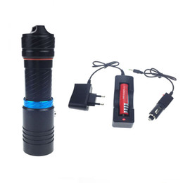 Wholesale Portable Charger Price - new price waterproof led flashlight XM-T6 2000LM Torch Underwater lighting diving Leds lighting Flashlight + 18650 battery+Charger