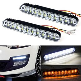 Wholesale Led Daylight Running - 2x 30 LED Car Daytime Running Light DRL Auto Daylight Lamp with Turn Lights Driving Lamp