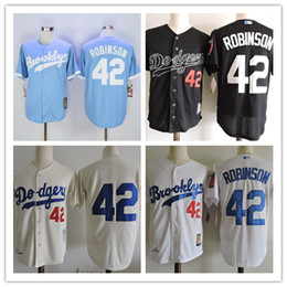 a8afe6dc ... LA Dodgers 42 Jackie Robinson Brooklyn Dodgers Throwback Jersey (50th  42th Hall Of Fame) 1955 Los Angeles .